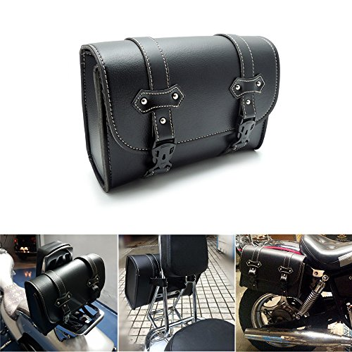 Motorcycle Sissy Bar Tail Bag Side Storage Tool Pouch Luggage Bags for Honda Suzuki Yamaha Kawasaki Dyna (Triumph Motorcycle Luggage)
