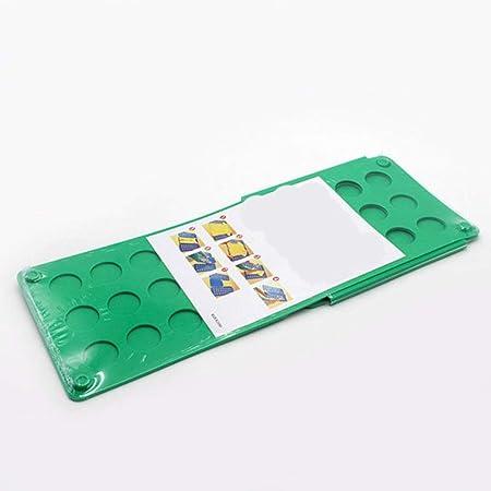 LLAAIT Tablero Plegable de Ropa Camisetas Carpeta fácil y rápida para Que el niño Pliegue Tableros Plegables Carpetas de lavandería Tablero de Ropa, Verde, España: Amazon.es: Hogar