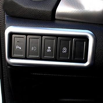 Für Vitara 2016 2017 2018 2019 Chrom Abs Innen Lichtschalter Button Abdeckung Trim Auto