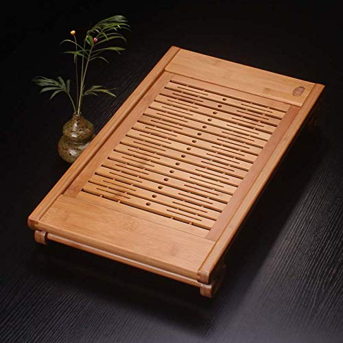 Bamboo Tea Tray Home Simple Living Room Bamboo Tea Table Kung Fu Tea Set Tray Chinese Tea Set Tray Table Tea Set Tea Tray Coffee Table Wooden Tea Tray Tea Set Tea Table Chinese Tea Culture by GQQ (Image #1)