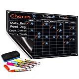 Chore Chart with 5 Chalk Markers for Multiple