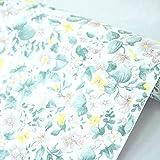 SimpleLife4U Gardenia Flower Contact Paper Peel & Stick Shelf Liner Refurbish Old Storage Cabinets Makeup Organizers 17.7 Inch By 9.8 Feet