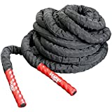 GEARDO CORE Battle Rope - 1.5'' Width Poly Dacron 30 ft Length Exercise Undulation Ropes - Gym Muscle Toning Metabolic Workout Fitness - Battle Rope Anchor Included (30, 1.5)