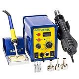 BAKU 110V 2 in 1 Original Design LED Digital Display SMD Rework Soldering Station Iron Welder Hot Air Gun