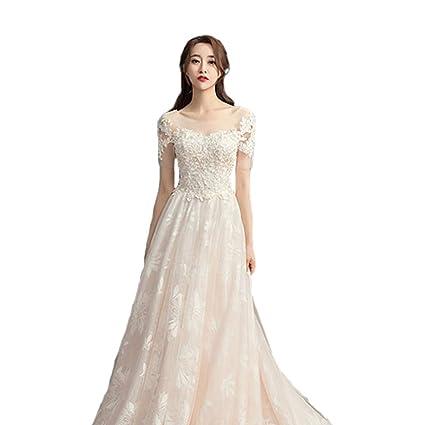 Vestido de novia sin Tirantes pequeño para Mujer Ailin Home (Color : #001,