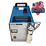 In US Stock, 300W Portable Oxygen Hydrogen Flame Generator Acrylic Polishing Machine, 95L 2 Gas Torches free, 110V