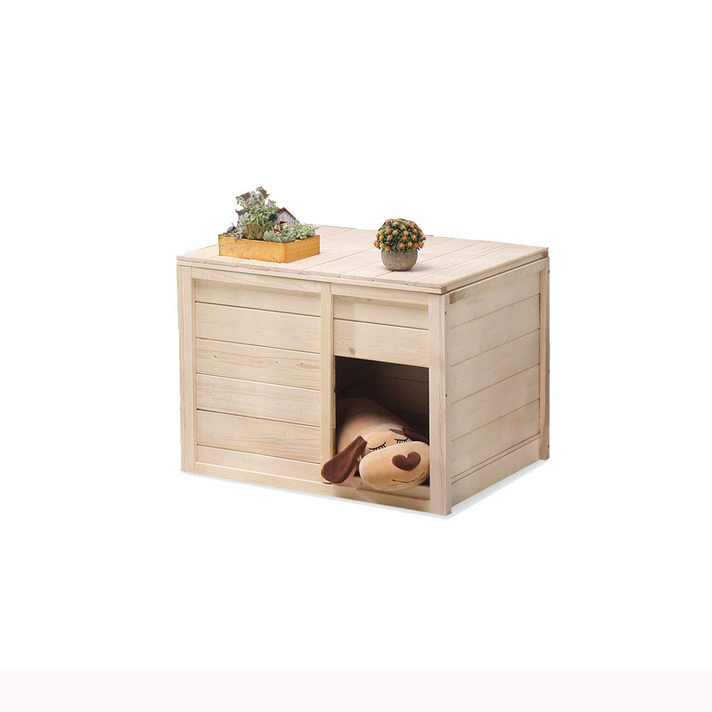 B Medium solid wood closed pet delivery room kennel dog house cat litter four seasons general production box house