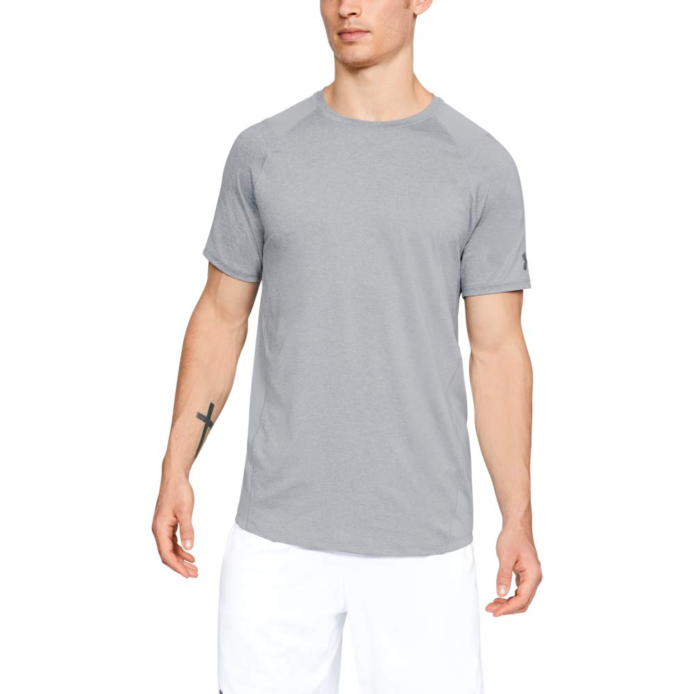 Under Armour Men's MK1 Short Sleeve T-Shirt, Steel Light Heather (036)/Graphite, 3X-Large Tall by Under Armour
