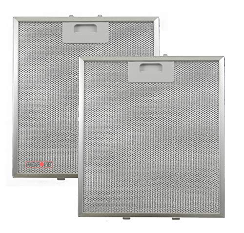 """🥇 Kit de 2 unidades – Filtros de aluminio para campanas extractoras de 267 x 305 x 9 – Compatible con modelo """"Elica""""."""