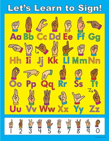 Carson Dellosa Let's Learn to Sign! Chart (6271) (Sign Language Games To Play In Class)