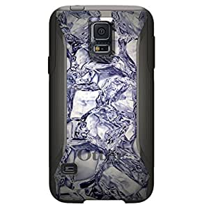 CUSTOM Black OtterBox Commuter Series Case for Samsung Galaxy S5 - Crystal Clear Ice