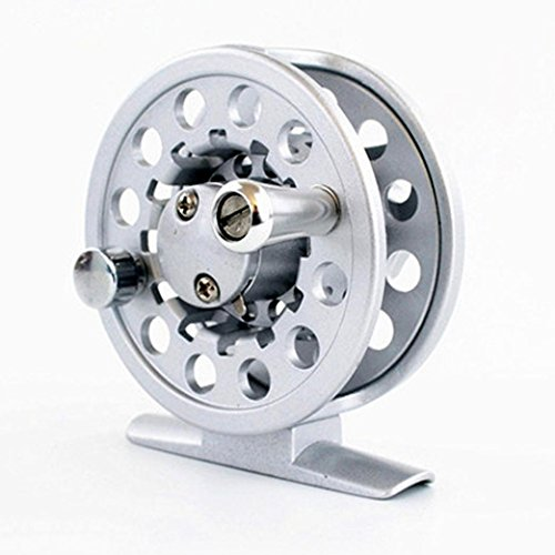 hot selling!! Fly Reel 1/2 WT Large Arbor Silve Aluminum Fly Fishing Reel (Silver)