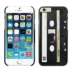 Iphone 6 Plus Case 5.5 Inches, Vintage Audio Cassette Fashion Design Black Hard Phone Cover Case for Apple Iphone 6 Plus
