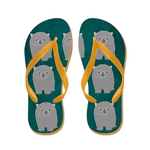 CafePress Wombat - Flip Flops, Funny Thong Sandals, Beach Sandals Orange