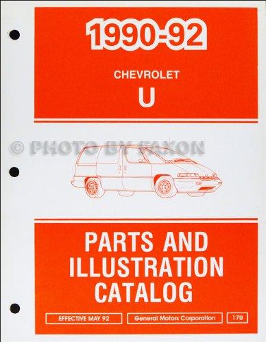1990-1992 Chevrolet Lumina APV Parts Book Original
