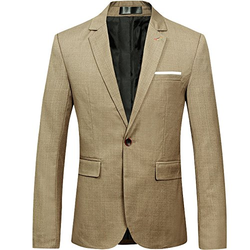 Mens Slim Fit Casual Floral One Button Blazer Jacket (XXXXL, Shiny (Mens Blazer Jacket)