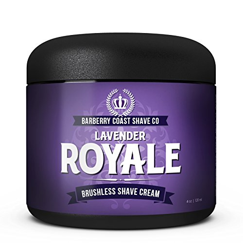 (Lavender Royale Shaving Cream for Men - Made with Shea Butter, White Tea & All Natural Ingredients - Full of Organic Soothers, Moisturizers & Anti-Oxidants)
