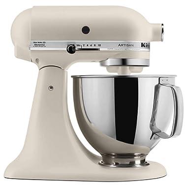 KitchenAid KSM150PSFL Artisan Stand Mixers, 5 quart, Matte Fresh Linen