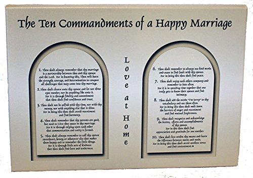 Ten Commandments of a Happy Marriage Canvas Wrap (Ten Commandments Marriage)