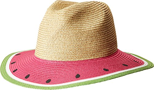 San Diego Hat Company Women's Fruit Fedora Hat, Watermelon, One Size -