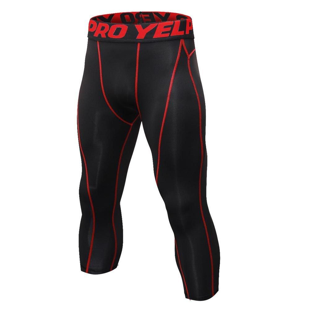 c292482ab1478c Amazon.com: Luxsea Men's 3/4 Sport Leggings Quick Dry Yoga Workout Running  Fitness Stretch Tights Pants: Clothing