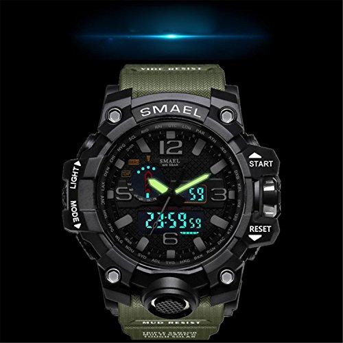 Siniya Men Sports Watch Multi function Military Watch Date Quartz Stopwatch Masculino Analog LED Watches