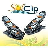 Beach Towel Clips, pegs, clothespins, épingles, pinces à serviette de plage, SolClip Canada, Flip Flop Sailor