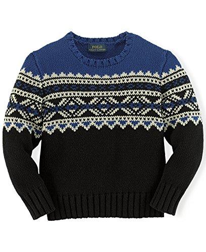 Ralph Lauren Polo Boys Fair Isle Nordic Sweater (4 4T)