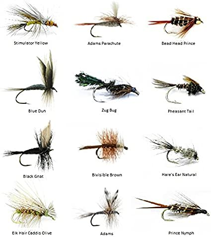 12pcs Mixed Fly Fishing Flies Fly Bait for Saltwater Freshwater Gamefish