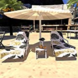 Indusleaf Beach Chair Chaise Lounge Cover- Lounge Towel Pool Chair Cover, Absorbent Beach Chair Cover with Side Pocket, Outdoor Patio Holidays Sunbathing