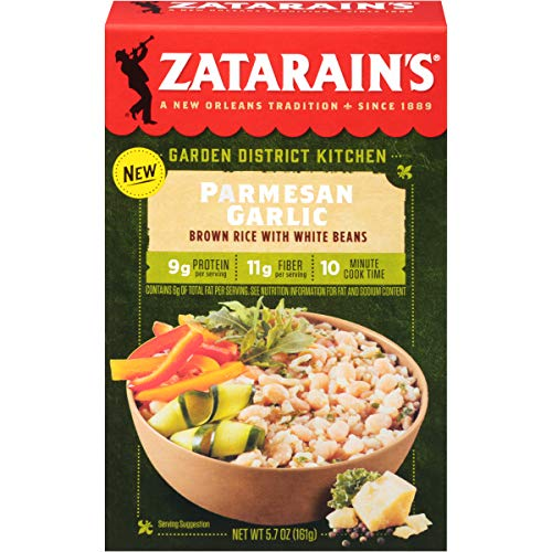 Zatarain's Parmesan Garlic with White Beans, 5.7 Ounce (Pack of 8)