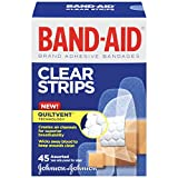 Band-Aid Brand Perfect Blend Clear Light Adhesive Bandages for Minor Cuts, Assorted Sizes, 45 Count