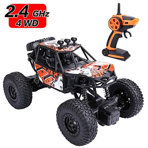 (EsOfficce Remote Control Monster Truck, 4WD RC Rock Crawler, 1:22 Off Road RC Vehicle, RC Rock Climber, 2.4GhzHigh-Speed Remote Control Monster Truck for Boys and Girls)