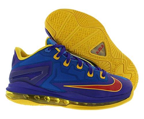 Nike Max Lebron Xi Laag (gs) Grote Kinderen Licht Foto Blauw / Uitdagen Rood-dark Eendracht