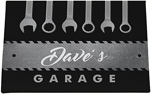 GiftsForYouNow Tool Garage Personalized Doormat, 18×24