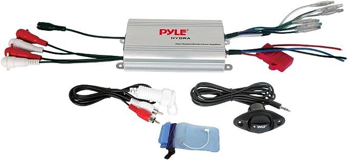 4 v/ías Amplificador de coche Pyle PLMRMP3A