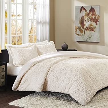 Madison Park Norfolk Ultra Plush Mini Comforter Set, King, Ivory