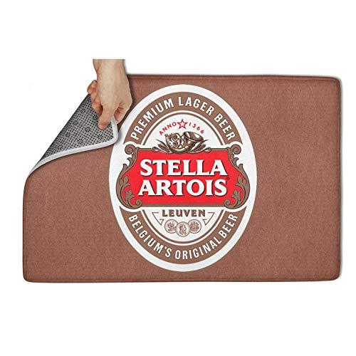 jdfrrv dddd Indoor/Outdoor 31'x19' Stella-Artois-Beer-Logo- Front Welcome Entrance Kitchen Dining Living Hallway Patio Rug Rubber Bathroom Bedroom Door Mats