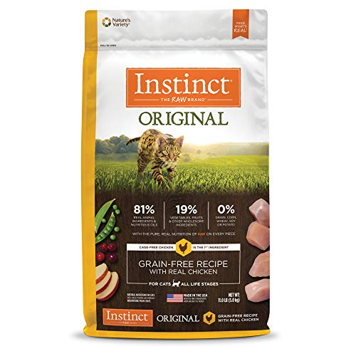 Instinct Original Grain Free Recipe with Real Chicken Natural Dry Cat Food by Nature's Variety, 11 lb. Bag (Chicken Soup For The Soul Cat Food Reviews)
