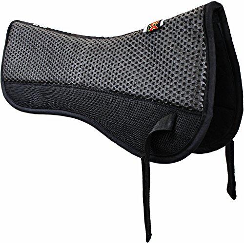 ECP Equine Comfort Products ECP Grip Tech Half Pad - Black