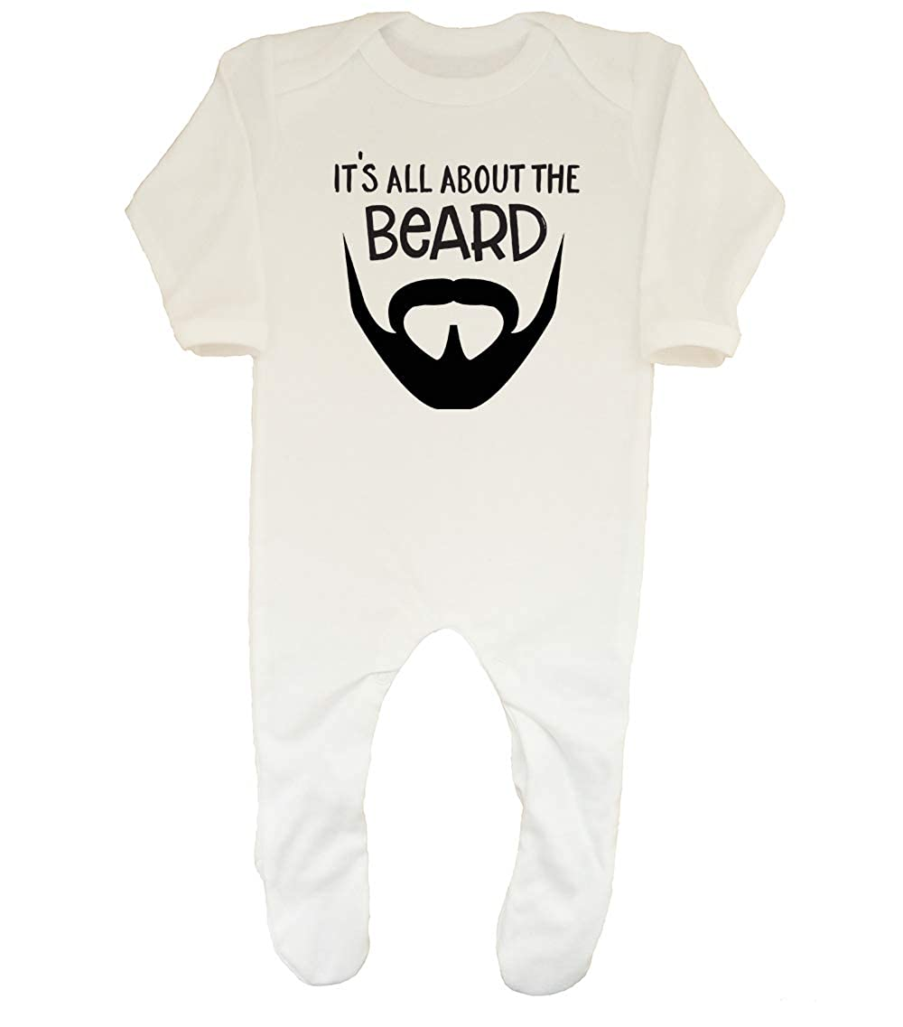 Shopagift Baby Its All About The Beard Funny Sleepsuit Romper