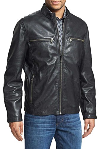 Hombre Negro Para Leather Junction Chaqueta q0H0Wfna