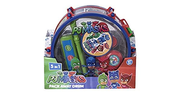 Amazon.com: PJ Masks 1384117 Pack Away Drum: Toys & Games