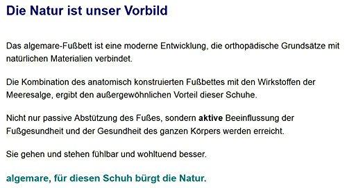 Algemare Damen Sandalette Kroko frozen Keilpantolette mit Algen-Kork Wechselfußbett Made in Germany 2317_2618, Größe:37