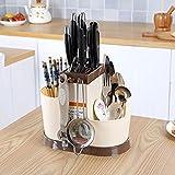 Woogor 1 Pc multi function creative kitchen shelving rack dish rack Drain chopsticks rack storage rack creative plastic cutlery, Random Color