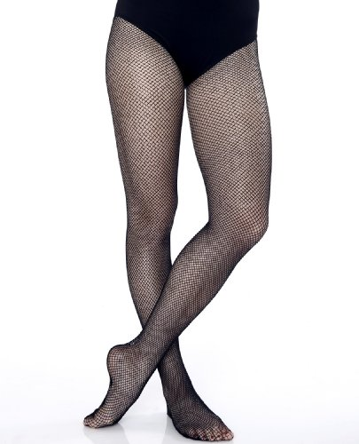 Danskin Little Girls' Fishnet Tight,Black,S/I (4-7)