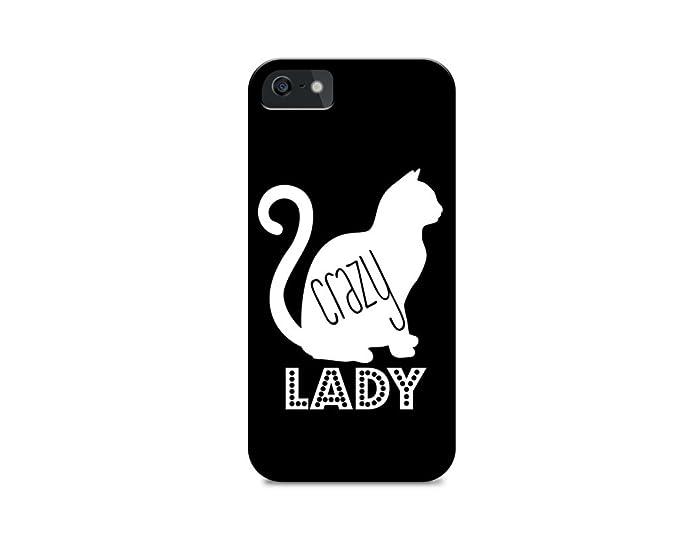 Amazoncom Iphone 5c Hard Plastic Case Crazy Cat Lady Cat