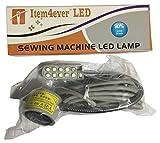 item4ever 110V 10-LED Magnetic Base Working Gooseneck Lamp, White