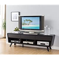74 Smart Home Alexa Contemporary TV Stand Home Entertainment System Collection (Red Cocoa)