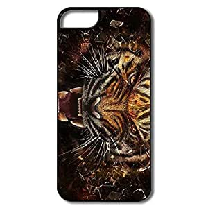 IPhone 5S Cases, Tiger Cases For IPhone 5/5S - White/black Hard Plastic